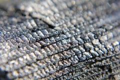 Coals in macro. Macro photo of black coal Stock Images