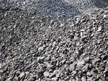Coals texture. A pile of black coals Royalty Free Stock Photos