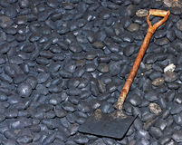 Coalshed & Shovel Stock Photo