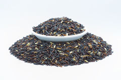 Coarse Black rice isolated Stock Images