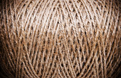 Coarse brown thread spools Royalty Free Stock Photos