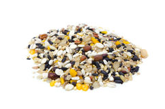 Coarse cereal. Cooking ingredient series coarse cereal. for adv etc. of restaurant,grocery,and others stock photos