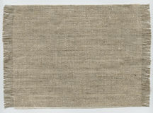 Coarse cloth. A piece of coarse cloth as a background stock image