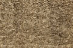 Coarse crumpled burlap texture, background Royalty Free Stock Photos