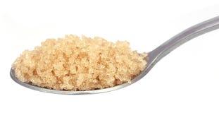 Coarse crystals of brown sugar Stock Photos