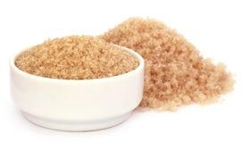 Coarse crystals of brown sugar Royalty Free Stock Image