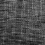 Coarse fabric background. Close up of coarse fabric woven from different colored threads bw low key Stock Photo