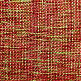 Coarse fabric background. Close up of coarse fabric woven from different colored threads in red and green Stock Images