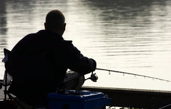 Coarse fisherman. Kingsbury water park, England, uk stock photos