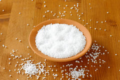 Coarse grained salt Stock Photos
