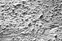 Coarse-grained wall paint - white Stock Image