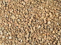 Coarse gravel texture. Landscape photo of a patch of a coarse gravel driveway royalty free stock images