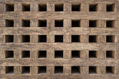 Coarse grid of wood Stock Photos