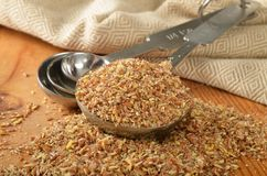 Coarse ground flax seed Royalty Free Stock Images