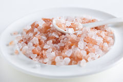 Coarse Himalayan pink salt Royalty Free Stock Image