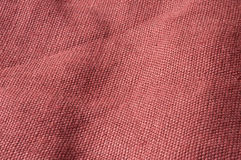 Coarse linen. Close up of red brown coarse linen Royalty Free Stock Image