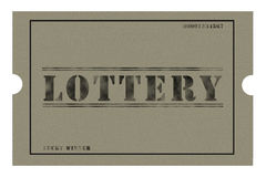 Coarse Lottery Ticket Stock Photo