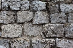 A coarse masonry. Old coarse masonry of large stones royalty free stock photography