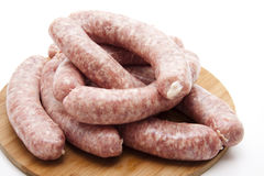 Coarse raw fried sausage Stock Image