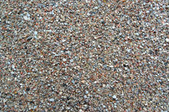 Coarse river sand, background. Top view Royalty Free Stock Photo
