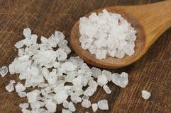 Coarse sea salt close up Royalty Free Stock Photo