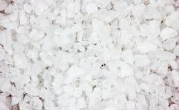 Coarse Sea Salt Close View. A close view of coarse iodized sea salt stock photos