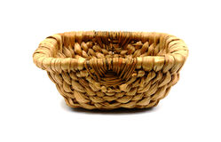 Coarse woven basket Stock Images
