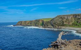 Coasline在Terceira,亚速尔群岛 库存图片