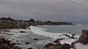 Coasline океана в Калифорнии видеоматериал