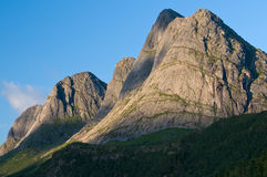 Coasstal mountians Norway Royalty Free Stock Photography