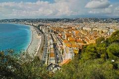 Coast. The coast at the French Riviera near Nice Royalty Free Stock Photos