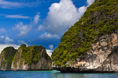 Coast. Line of Phi-Phi island from the sea Stock Photography