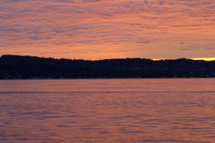 Coast 203. Sunset over Possession Sound at Mulkiteo State Park, Seattle Metro Area, USA royalty free stock photo