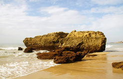 Coast. Atlantic coast in the algarve Royalty Free Stock Photo
