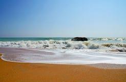 Coast. Atlantic coast in the algarve Stock Image