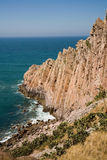 Coast. Rocky coast of Mexico in Mazatlan Stock Image