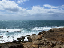 Coast. Looking out to sea from Portland Bill rocks Royalty Free Stock Photo
