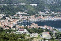 Coast. Seaside urban boat dock in Croatia Stock Image