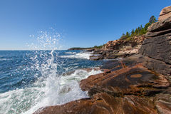Coast of Acadia National Park in Maine Stock Images