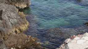 Coast of the Adriatic Sea stock footage