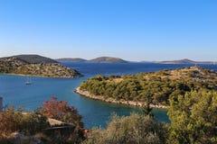 Coast of the Adriatic Sea near Tribunj stock photography