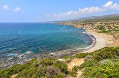 Coast of Akamas peninsula on Cyprus. Coast of Cyprus National park Akamas peninsula stock photography