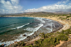 Coast of Akamas peninsula on Cyprus Stock Photography