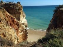 Coast of the  Algarve region. Portugal Stock Photos