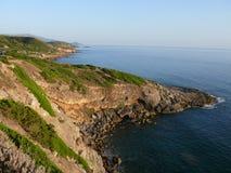 Coast between Alghero and Bosa. Northwest coast of Sardinia, Italy Royalty Free Stock Images