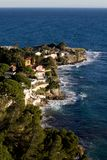 The Coast Along The Cote d'Azur In France. The Cote d'Azur In France Between Monaco And Nice Stock Images