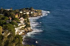 The Coast Along The Cote d'Azur In France. The Cote d'Azur In France Between Monaco And Nice Stock Photo