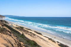 The coast along Del Mar, California Stock Photo