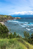 The coast along Honokohau Bay in Maui, Hawaii Royalty Free Stock Photography