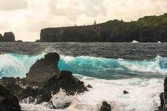 The coast along the Keanae Peninsula, Maui Royalty Free Stock Photo